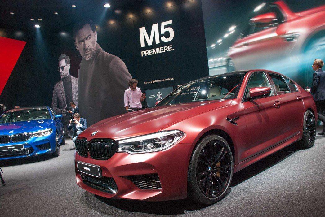 BMW M5。記者林昱丞/攝影