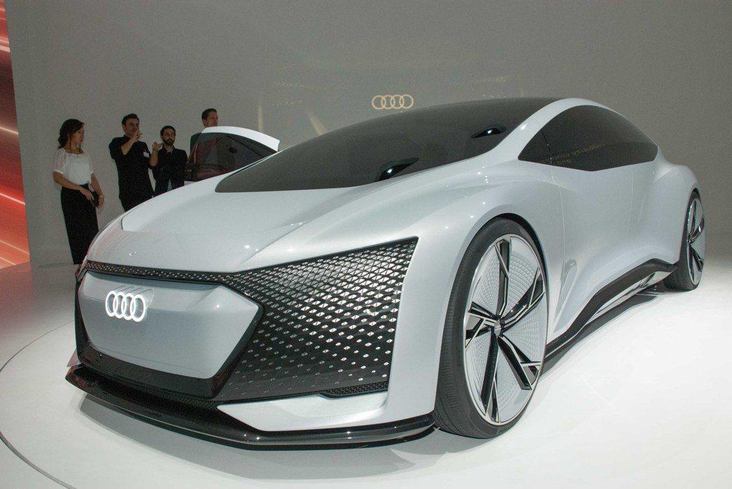 Audi Aicon concept car。記者林昱丞/攝影