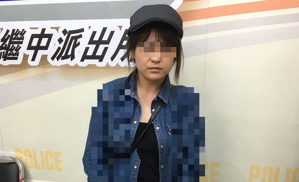 戴女涉嫌欺騙男子錢和感情,台中市第一分局依詐欺罪嫌函送法辦。記者游振昇/翻攝