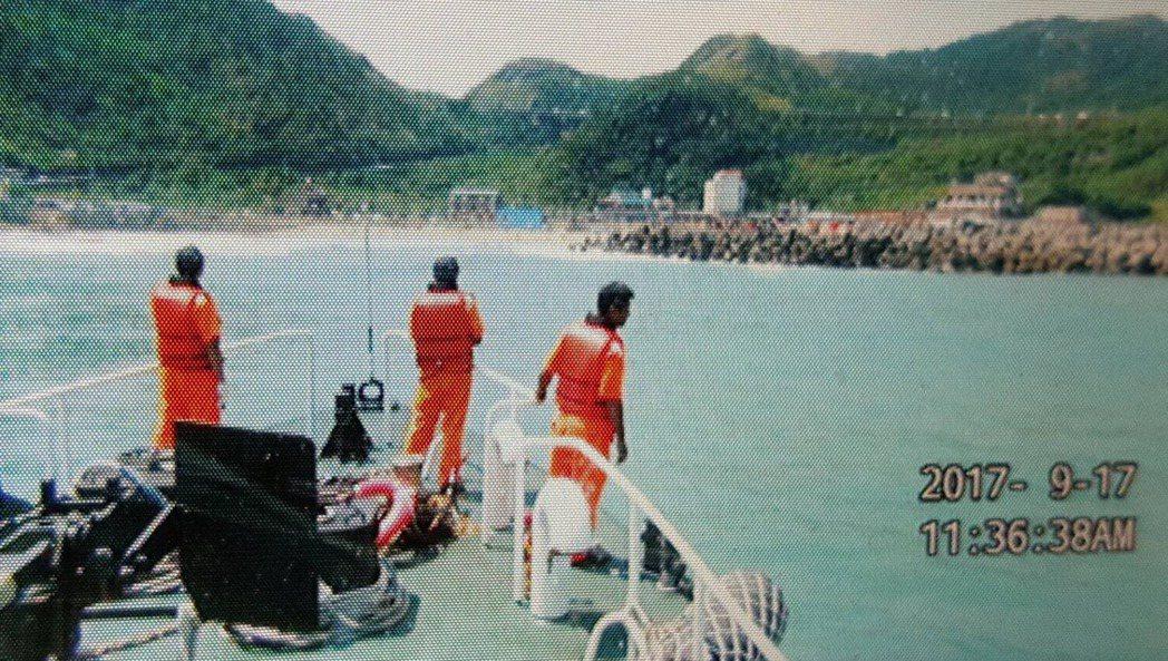基隆大武崙海域一早傳出2件溺水案。聯合報系記者曾健祐/翻攝