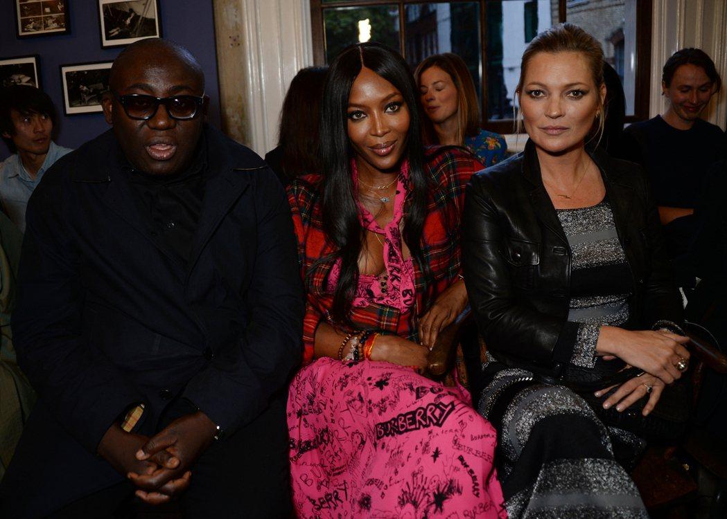 英版Vogue總編Edward Enninful、娜歐蜜坎貝兒、凱特摩絲。圖/B...