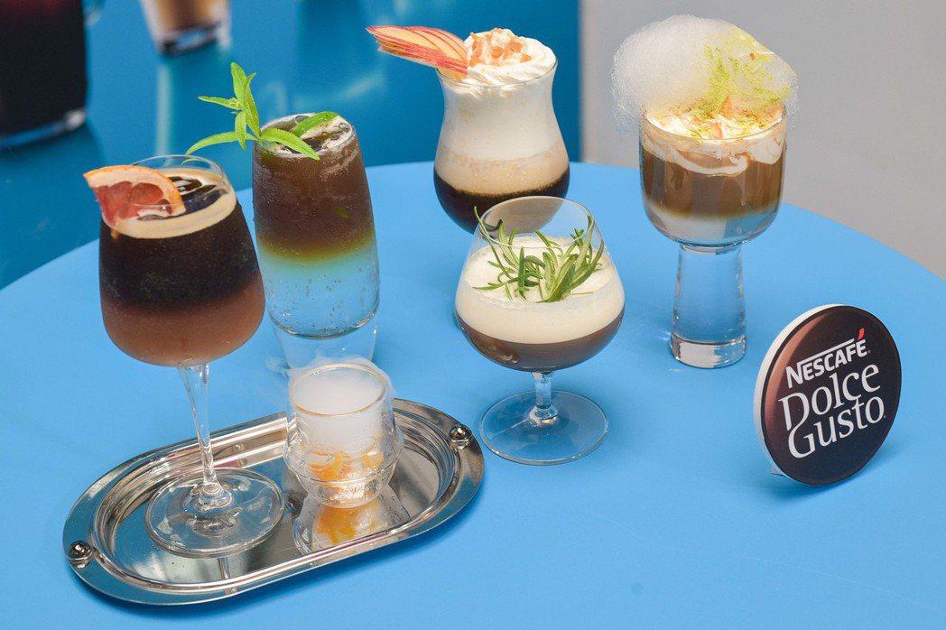 咖啡大師利用Lumio設計5款光意象特調。圖/台灣雀巢提供