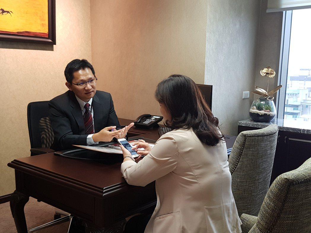 中國信託商銀表示,退休理財工具,不能只有一種。記者孫中英/攝影。