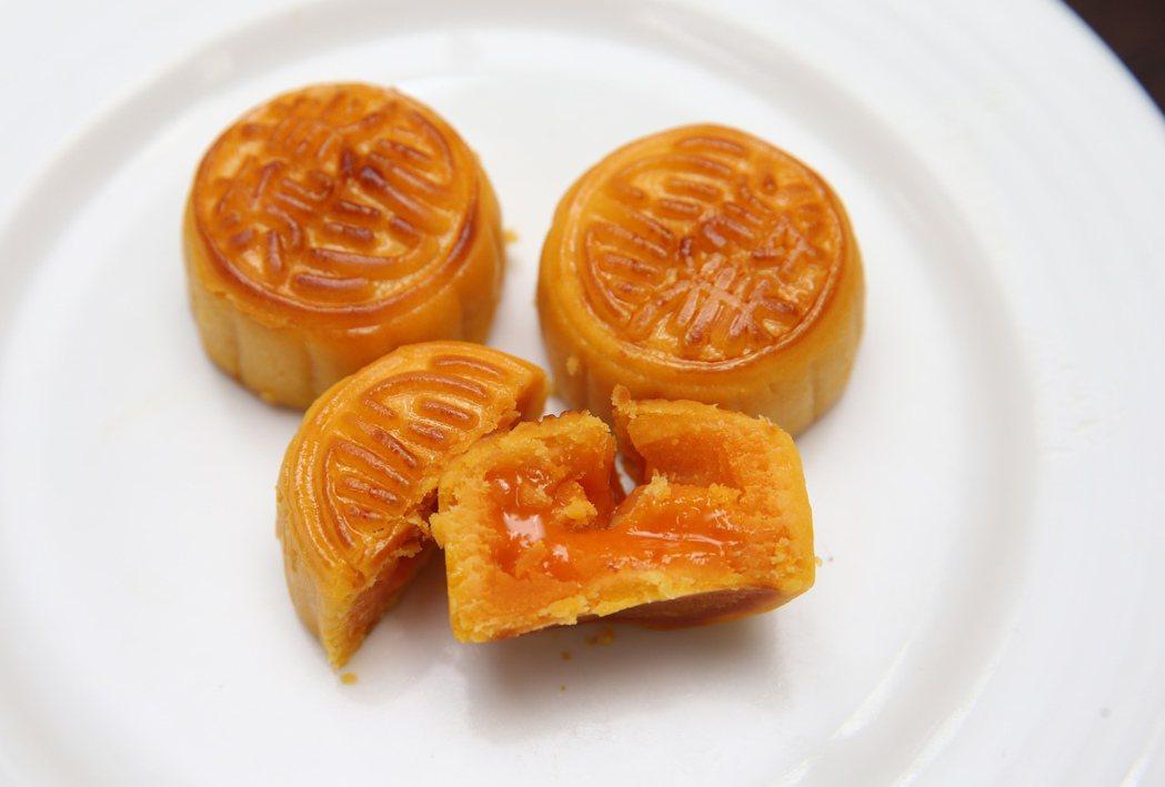 美心月餅-流心奶黃月餅。記者徐兆玄/攝影