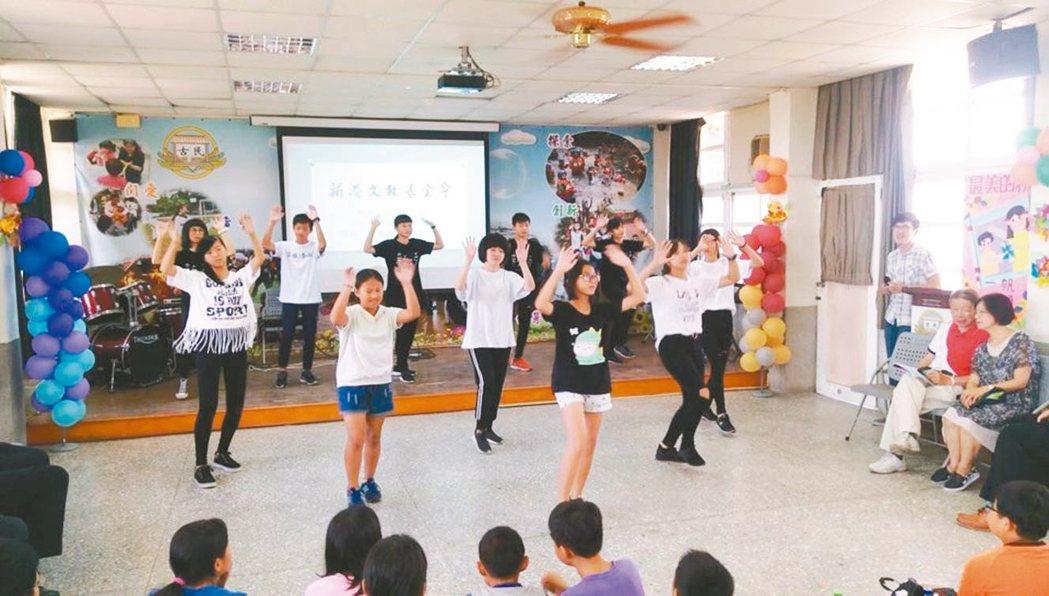 「相信工程」課輔班學生成立街舞團。 圖/新港文教基金會提供