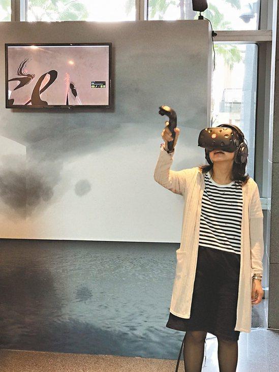 2017新北市全國書法比賽得獎作品在新北市政府1樓大廳展出,另有梅林鬍子實驗室展...