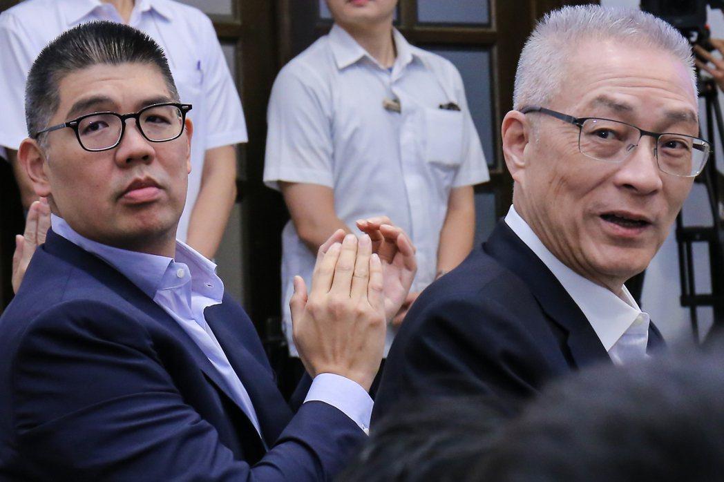 連勝文(左)與吳敦義一同出席「青年會義」活動。 本報資料照片