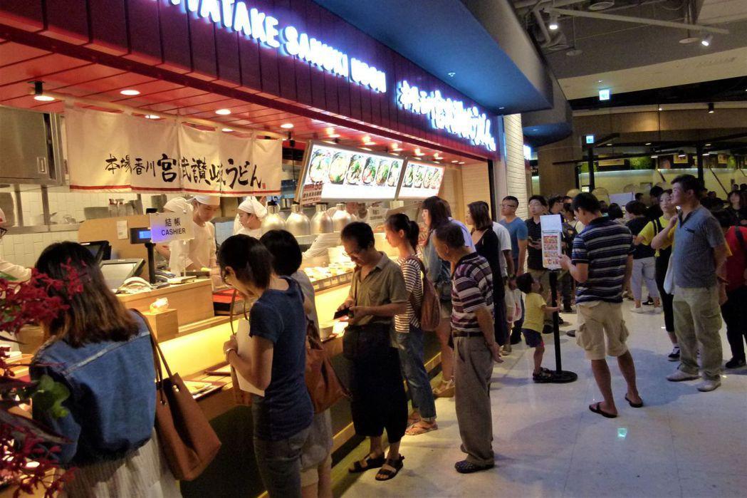 乾杯集團引入日系烏龍麵品牌,進駐大江購物中心。 報系資料照