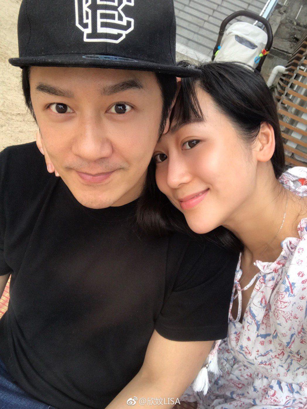陳浩民、蔣麗莎夫妻甜蜜。圖/擷自蔣麗莎微博
