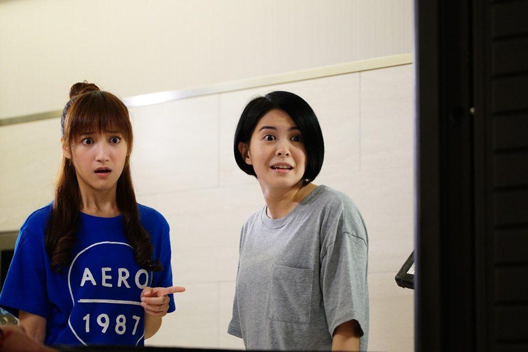 夏宇禾(左)、林柏妤演出「實習醫師鬥格」。圖/民視提供