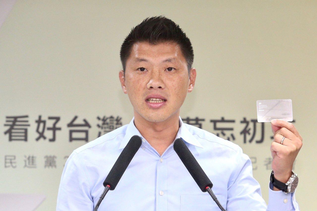 民進黨發言人王閔生。 中央社