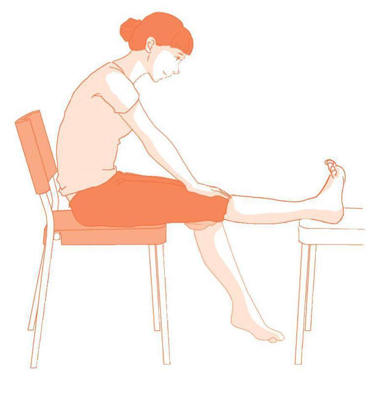 壓膝運動 圖片提供/【自己的膝蓋自己救】時報出版
