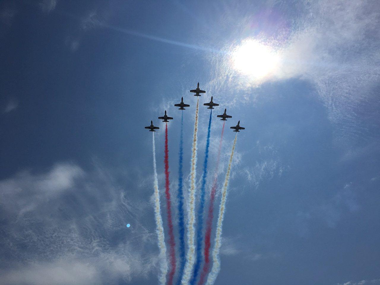 花蓮空軍官校本周六舉辦營區開放活動,有最令人期待的「特技機表演」。記者徐庭揚/攝...