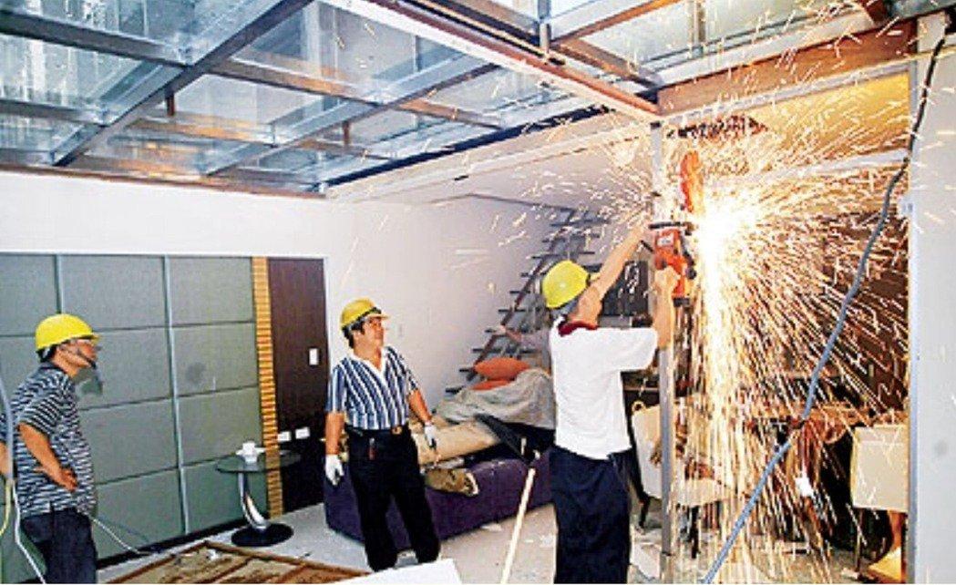為了遏制違建,北市建管處新訂「違章建築強制拆除遇阻礙處理作業流程」SOP,若在執...