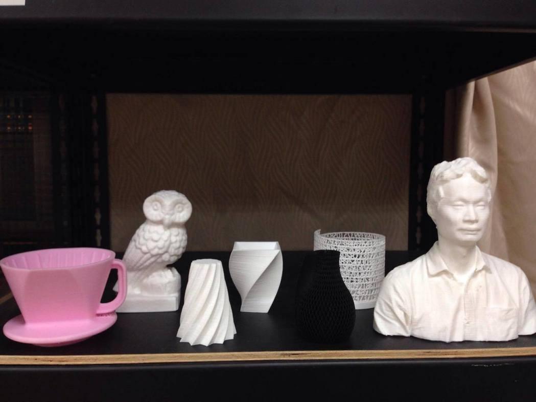3D列印應用日趨廣泛,大學及高中職近來鼓勵學生發揮創意,打造更多功能的作品。圖/...