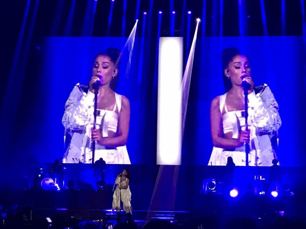 亞莉安娜首度在台北開唱。圖/讀者提供