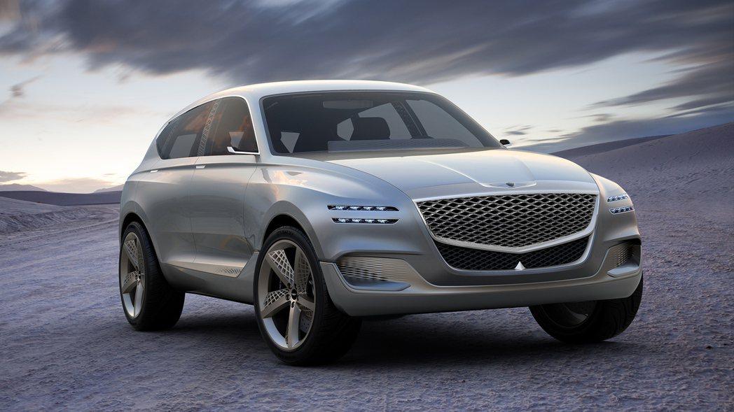 Genesis GV80 Concept 氫燃料動力概念車。 摘自Genesis