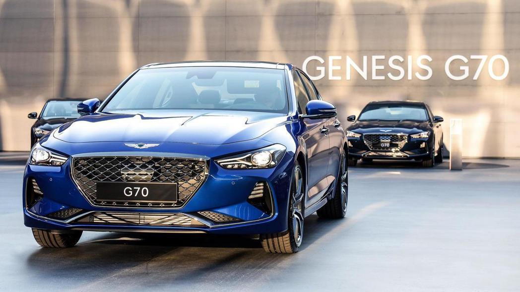 Genesis G70。 摘自Genesis