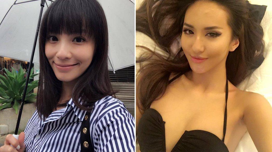 藝人臉書「藍勾勾」消失,受害者不只一人,當中包含王湘瑩與薔薔。 圖/擷自臉書、臉