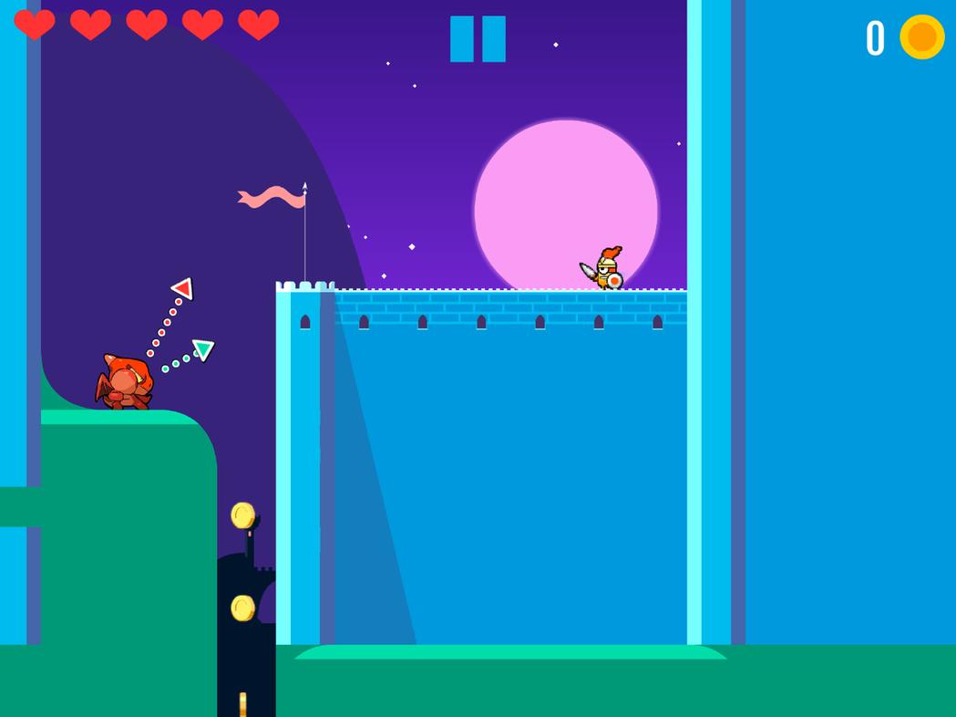 遊戲中隨時都會有兩條線,綠線是移動軌跡、紅線是攻擊軌跡。