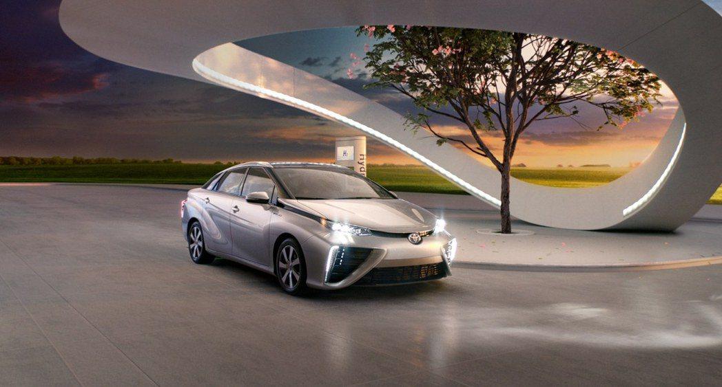 Toyota Mirai為Toyota的氫燃料動力車款。 摘自Toyota