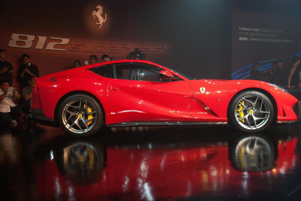 Ferrari 812 Superfast。記者林昱丞/攝影