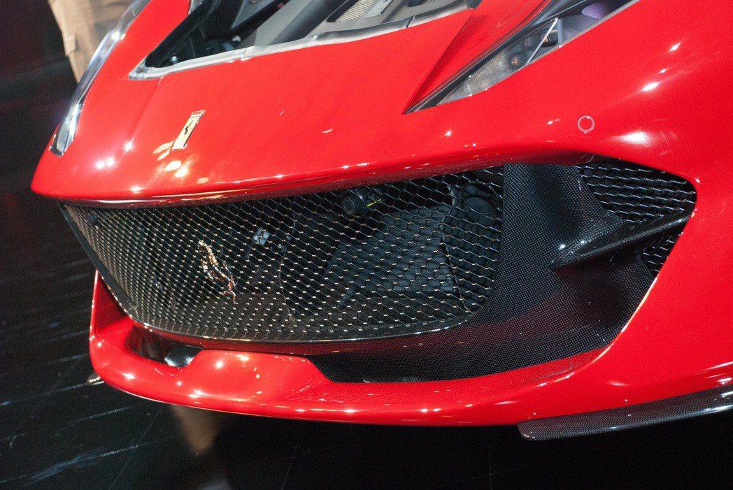 Ferrari 812 Superfast的空力設計。記者林昱丞/攝影