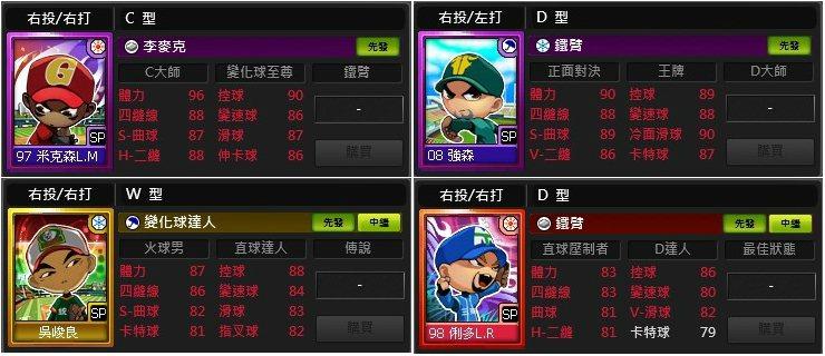 ★本次改版進行CPBL球種統一&調整,讓玩家在比賽中有更多選擇。