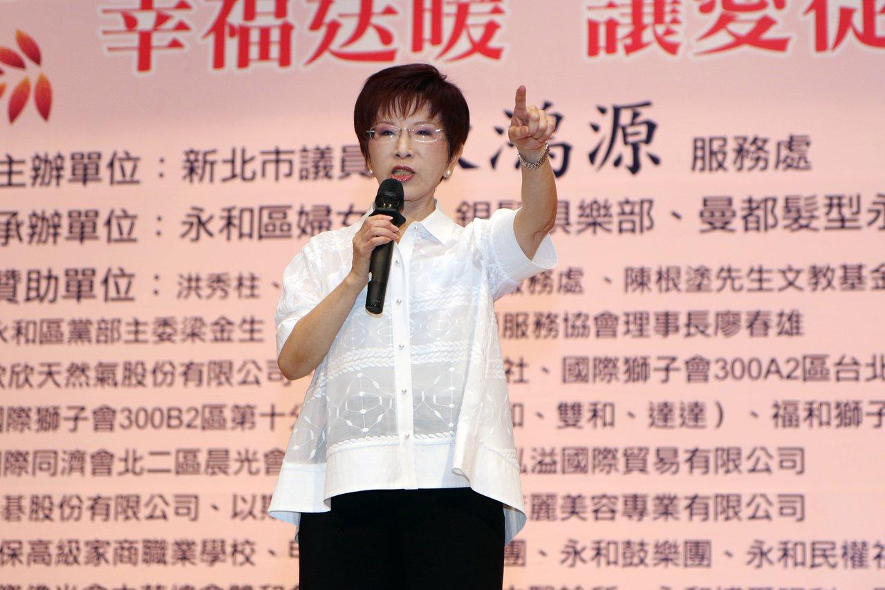 國民黨前主席洪秀柱。聯合報系資料照片/記者王敏旭攝影