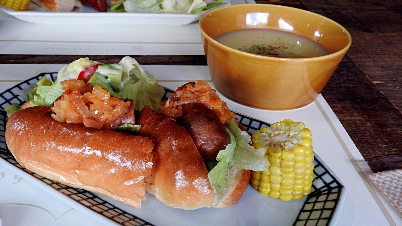 餐點皆是每天依照現有食材規畫設計。記者魏妤庭/攝影