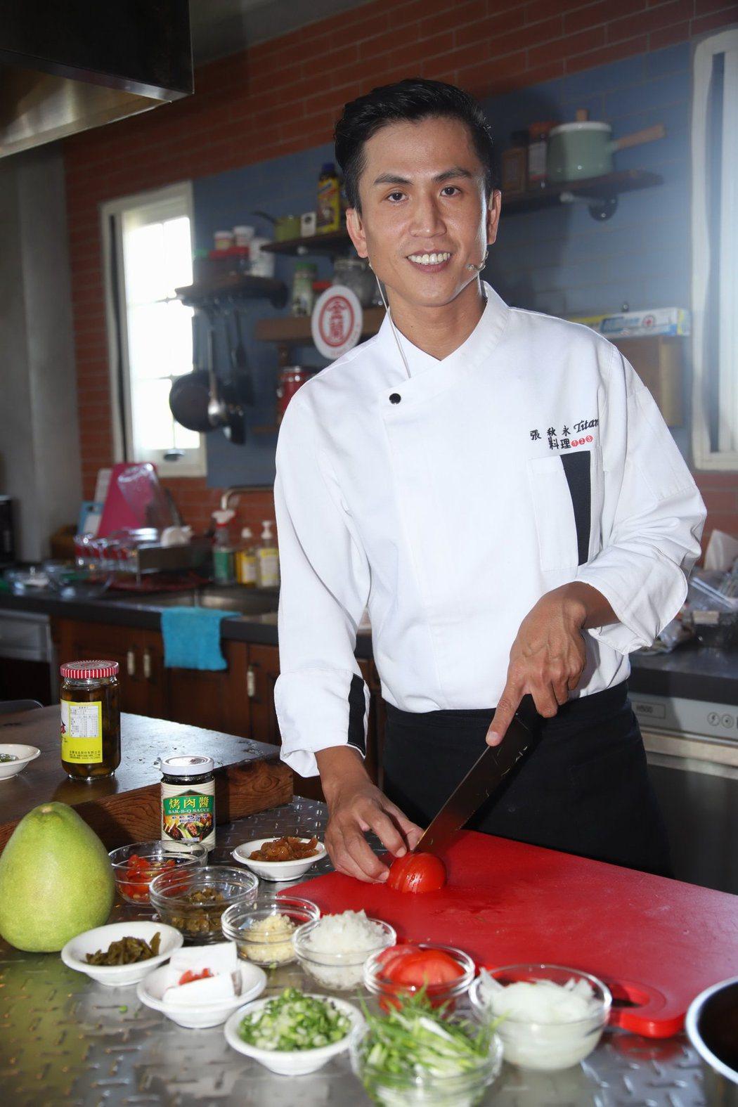「師奶廚師」封號的張秋永今出席「金蘭烤肉醬」活動。圖/金蘭烤肉醬提供