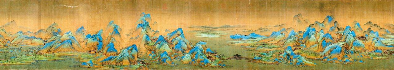 圖一:王希孟〈千里江山圖〉(局部),北京故宮博物院典藏。 蔣勳 圖片提供