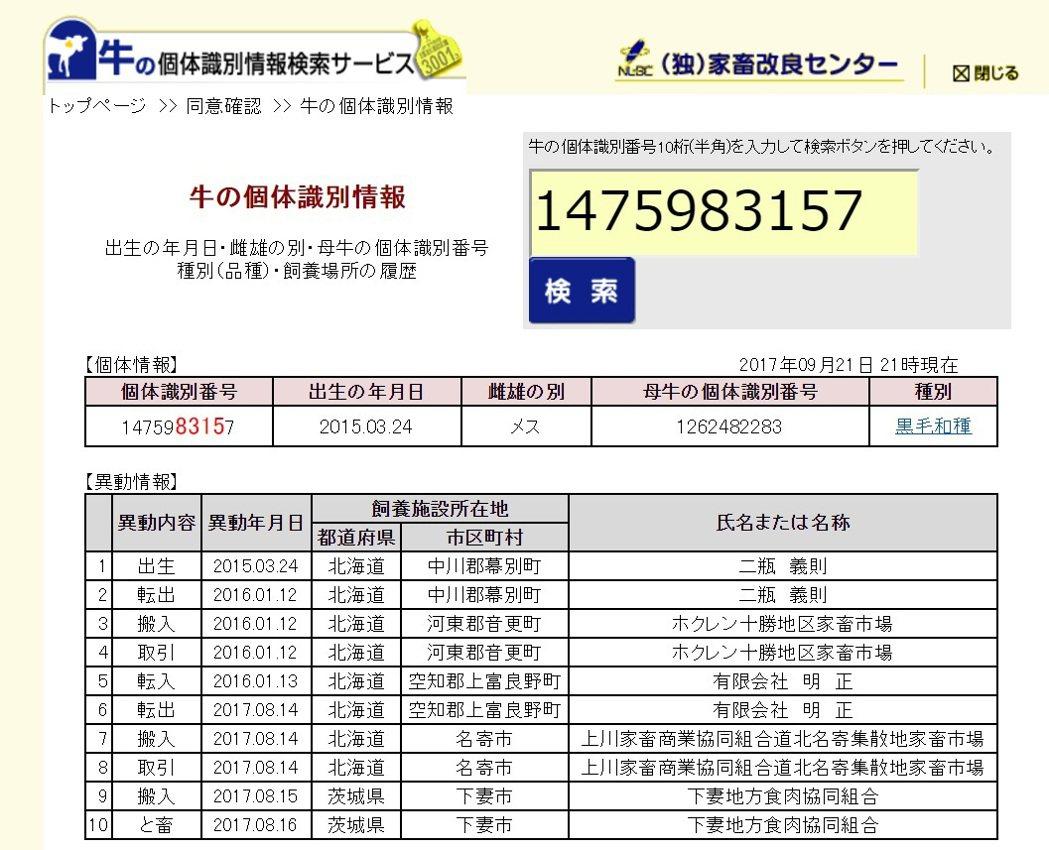日本每頭牛都有10碼的個體識別編號,只要上網輸入編號,就能查到這頭牛的飼養履歷;...