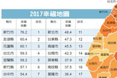 2017/新竹市連霸得分創新高 一張表看幸福城市排名地圖
