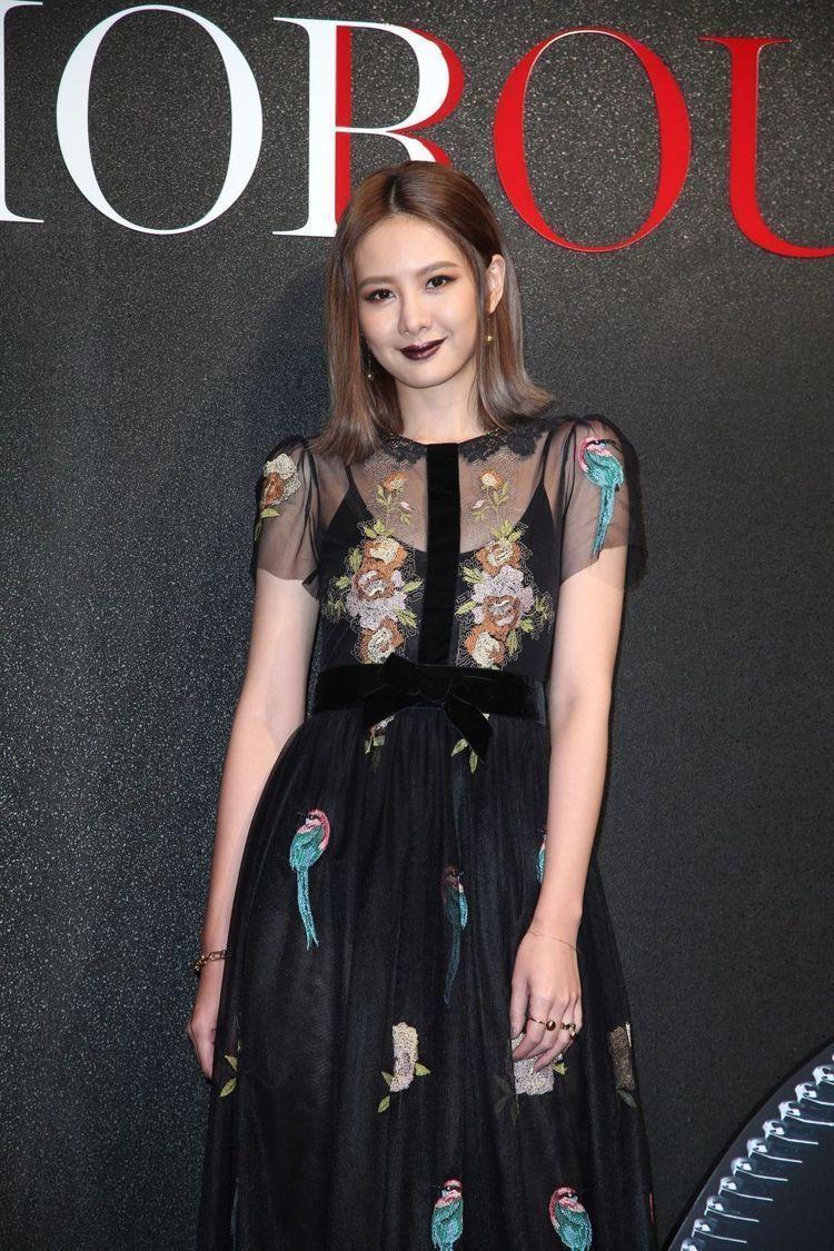 安心亞出席Dior For Love 搖滾你的唇派對。圖/記者陳瑞源攝影