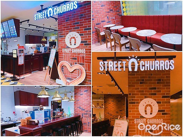 ▲「Street Churros吉拿圈」有提供內用座位,現點現炸的肉桂吉拿圈,可...