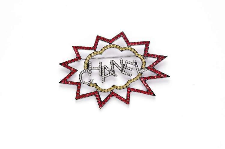 香奈兒onefifteen初衣食午「快閃太空主題裝置」限定限量的紅黃星雲造型胸針...