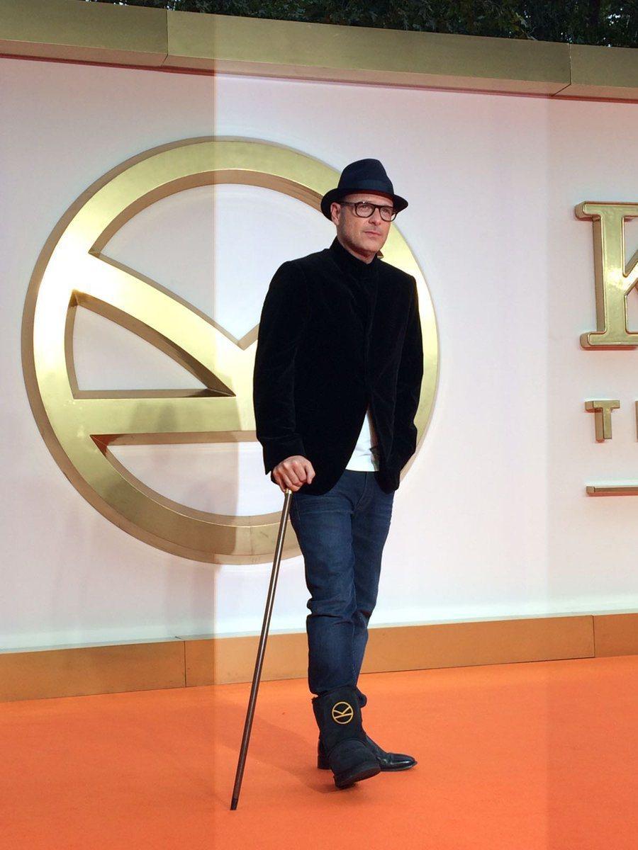 馬修范恩出席「金牌特務:機密對決」倫敦首映會。圖/摘自推特
