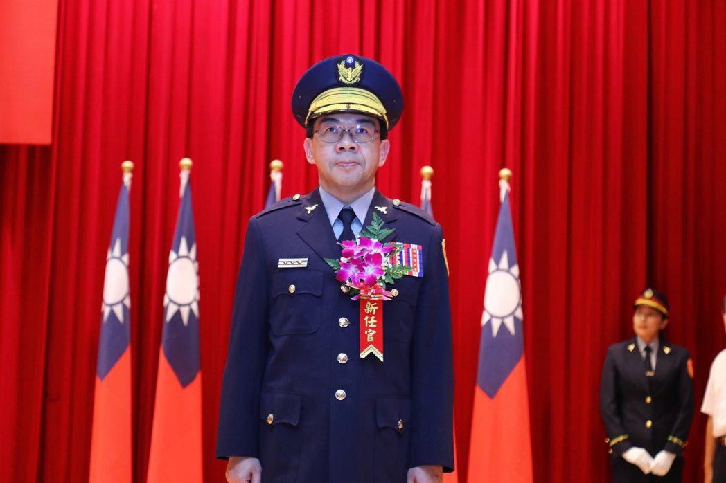 台中市警局新任局長楊源明今天履新。記者陳宏睿/攝影