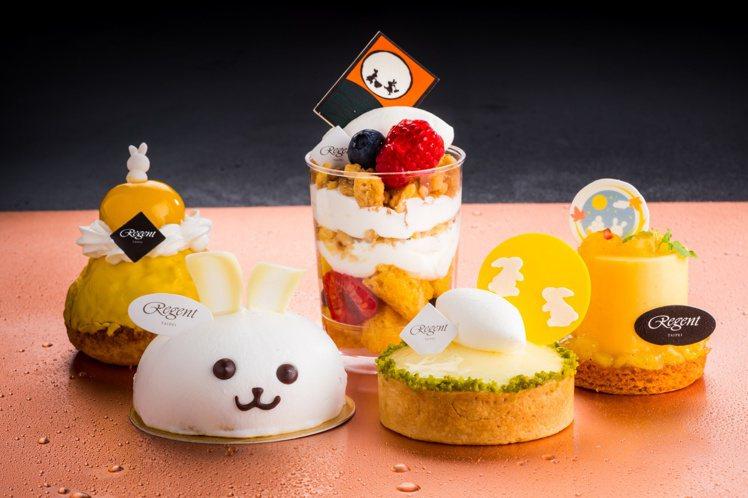 晶華酒店點心房主廚以月兔作為今年中秋甜點主角。圖/晶華酒店提供