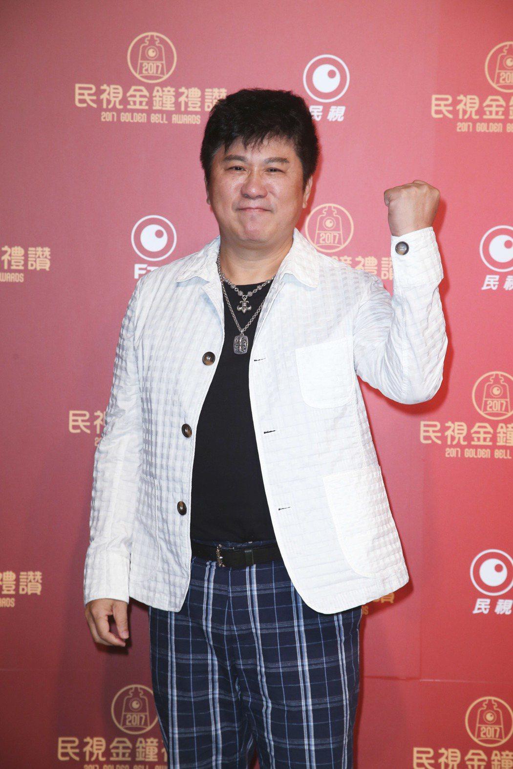 胡瓜出席民視金鐘禮讚。記者陳瑞源/攝影