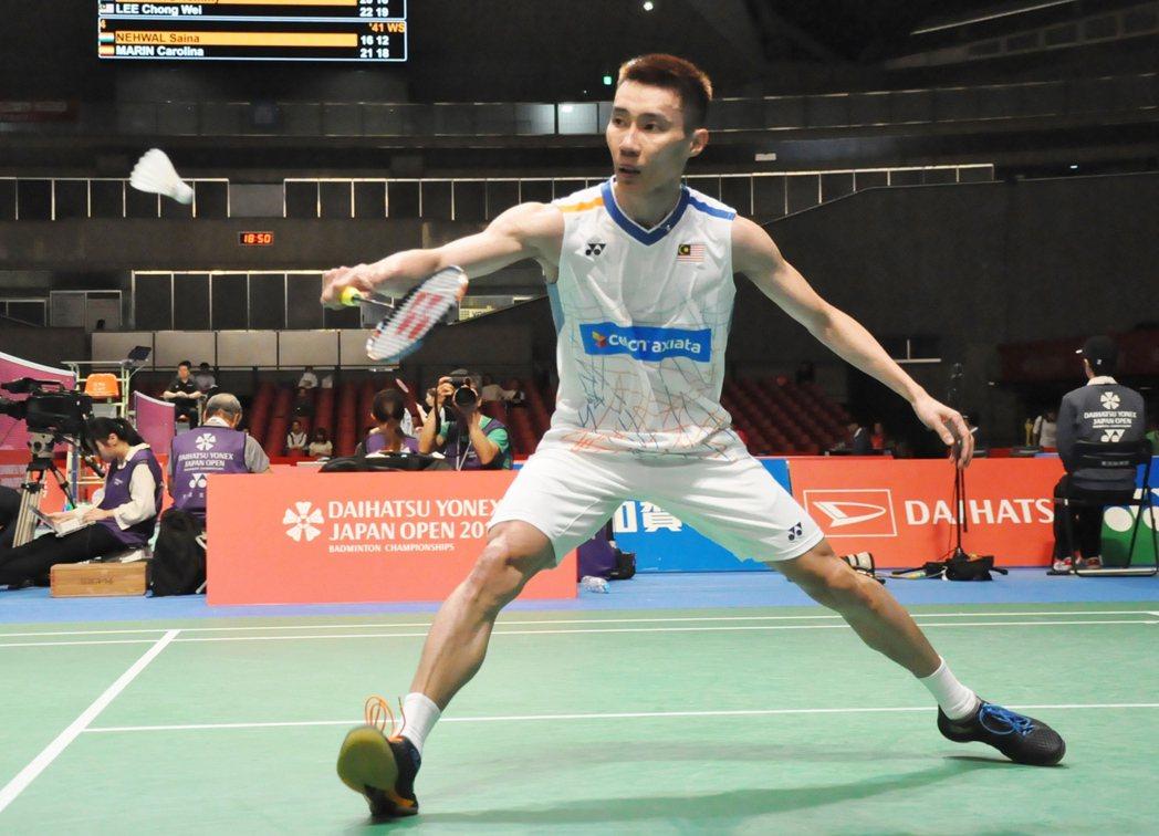 馬來西亞羽毛球一哥李宗偉。 聯合報系資料照