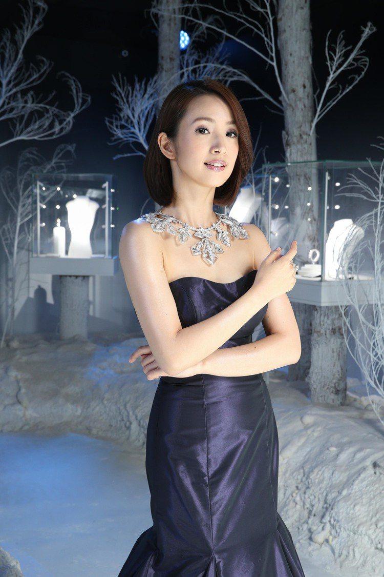 林依晨演繹上億珠寶。圖/寶詩龍提供