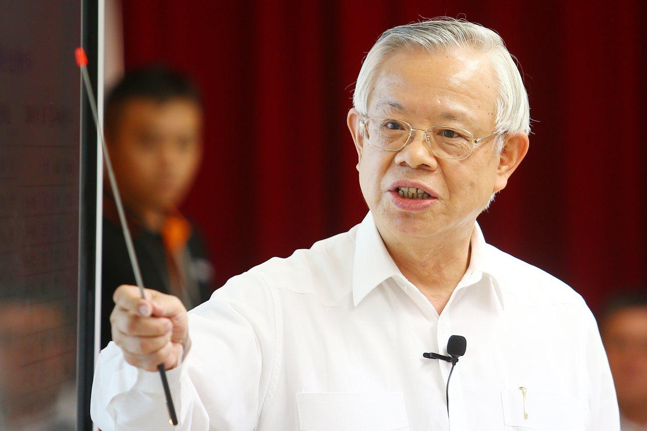 中央銀行總裁彭淮南。 記者王騰毅/攝影