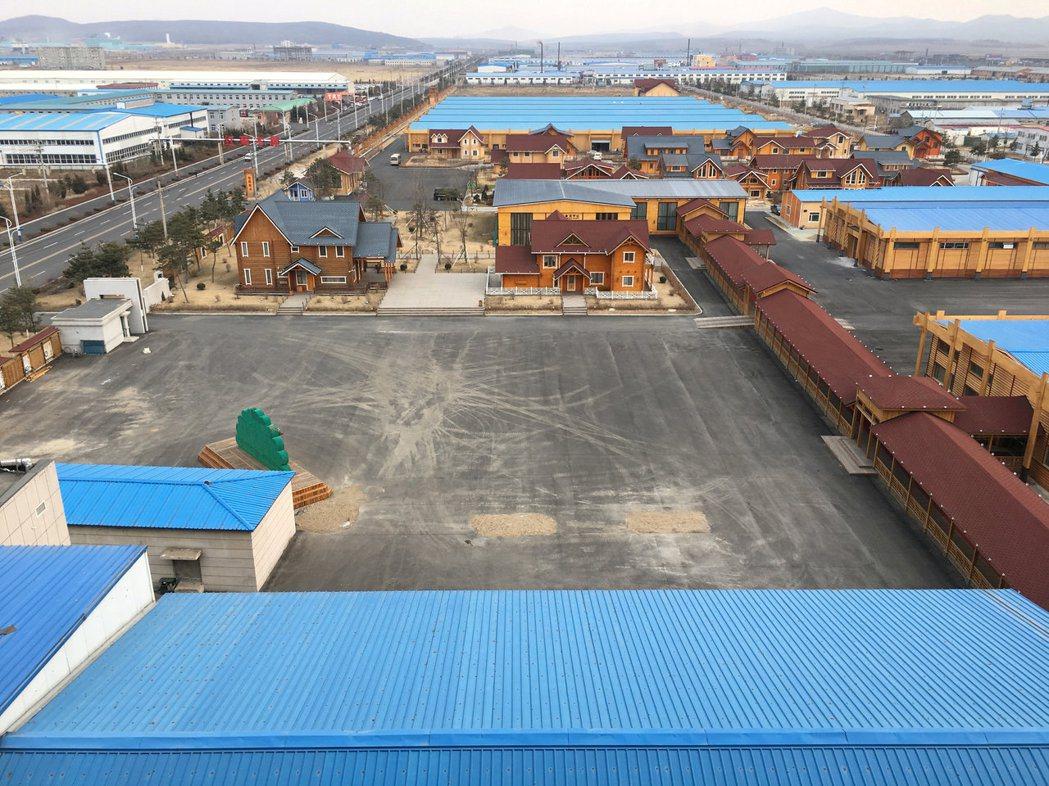 大陸吉林省琿春市的中朝經濟合作區。 (路透)