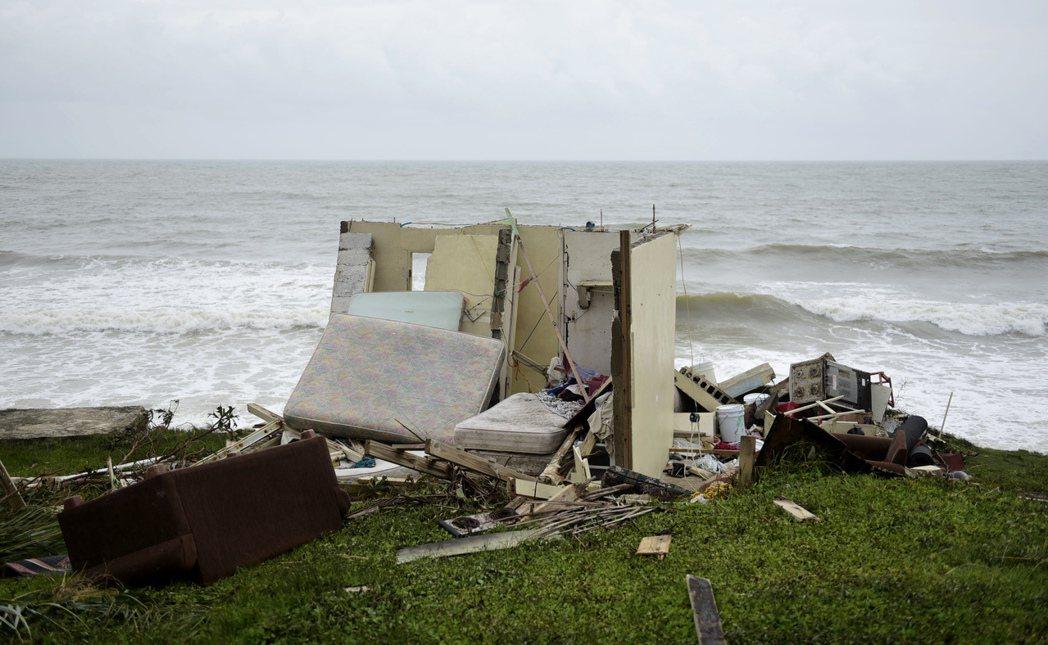 波多黎各遭颶風瑪莉亞(Hurricane Maria)重創。 美聯社