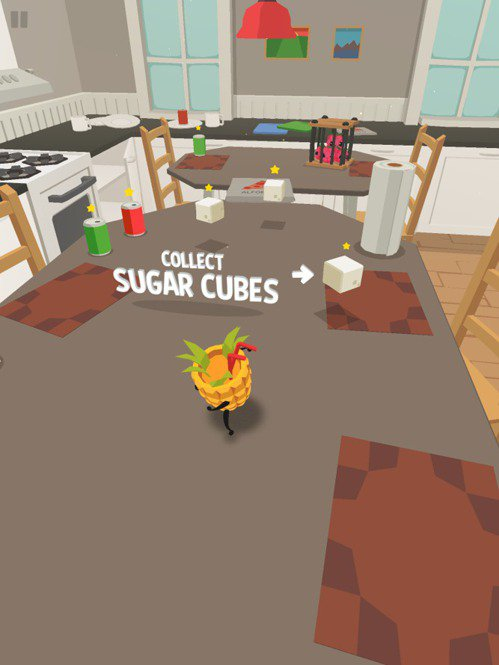遊戲中到處都有方糖可以收集,是本作中的貨幣,可以用來解鎖新角色或是用於接關