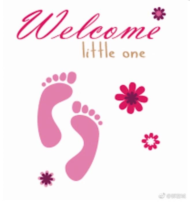 郭富城的微博圖片似乎暗示生了女兒。圖/摘自微博