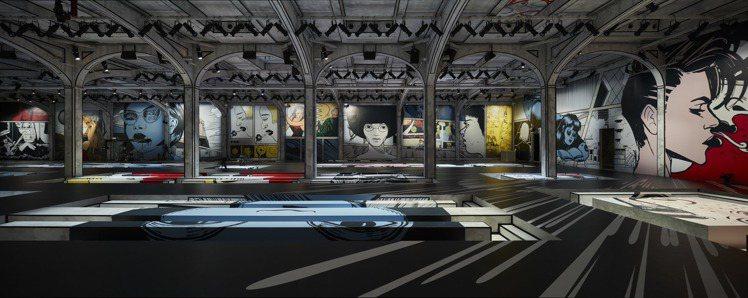 秀場將整座建築轉變為符合概念敘事的空間。圖/PRADA提供