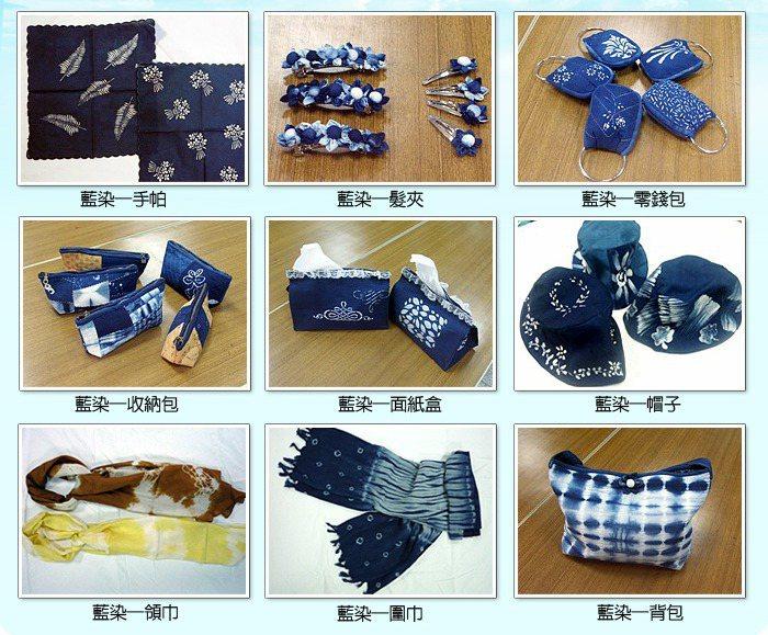 台北看守所藍染班作品多元且豐富,大哥也可以很文青。 圖/摘自台北看守所官網